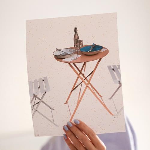 Sunday in Soho Paris restaurant illustrated art print by Nicole Rae