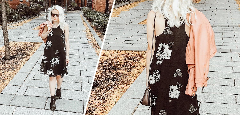 Boa Boutique Dark Floral Dress