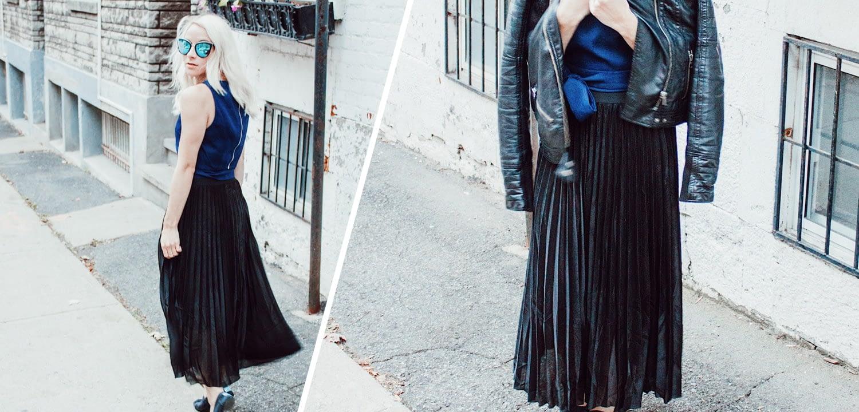Boa Boutique Pleated Black Skirt