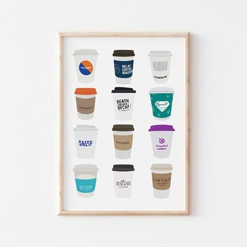 Hamilton coffee cup art print