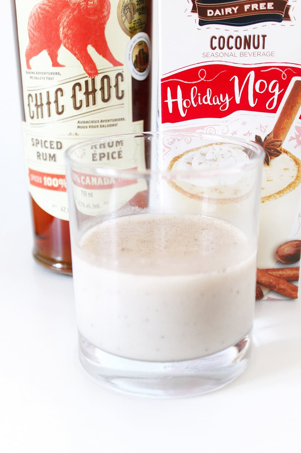 chic choc spiced rum egg nog