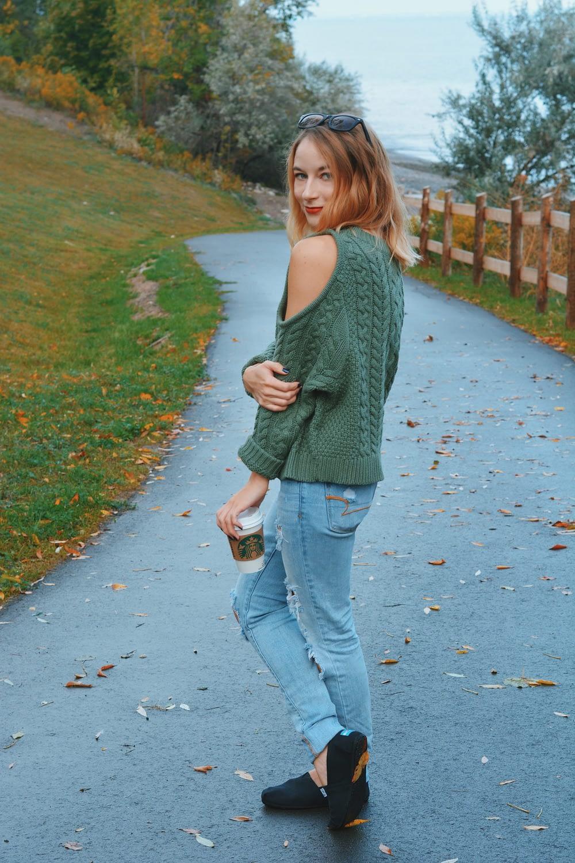 Aerie Cold Shoulder Sweater